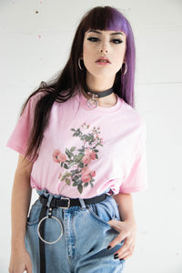 Pink Floral Retro Tee