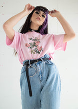 Load image into Gallery viewer, Pink Floral Retro Tee