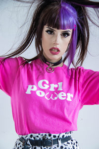 GRL POWER Pink Printed Tee