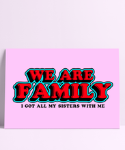 Load image into Gallery viewer, We Are Family Wall Print