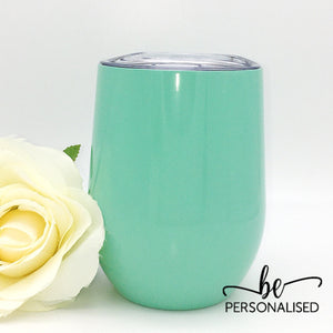 Plain Coffee/Wine Insulated Tumbler - Mint