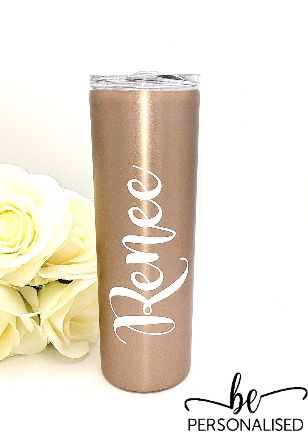 Tall Insulated Tumbler - Rose Gold