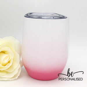 Ombré Coffee/Wine Insulated Tumbler - Pink