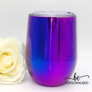 Gradient Metallic Coffee/Wine Insulated Tumbler - Blue and Purple