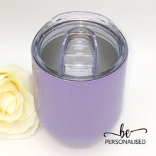 Load image into Gallery viewer, Shimmer Coffee/Wine Insulated Tumbler - Light Purple