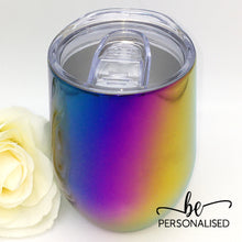 Load image into Gallery viewer, Gradient Metallic Coffee/Wine Insulated Tumbler - Blue, Purple and Yellow