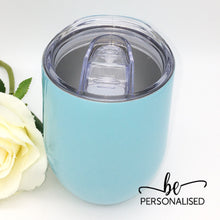 Load image into Gallery viewer, Plain Coffee/Wine Insulated Tumbler - Baby Blue