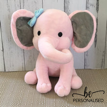 Load image into Gallery viewer, Baby Birth Details Plush Elephant