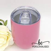 Load image into Gallery viewer, Plain Coffee/Wine Insulated Tumbler - Pink
