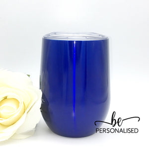 Plain Coffee/Wine Insulated Tumbler - Royal Blue