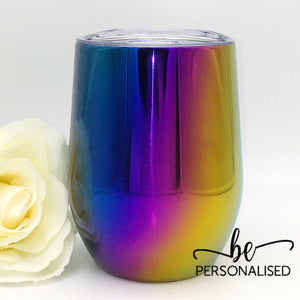 Gradient Metallic Coffee/Wine Insulated Tumbler - Blue, Purple and Yellow