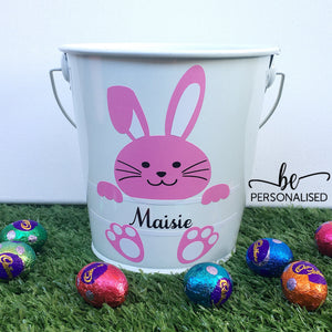 Easter Bunny Bucket - Multi Colour