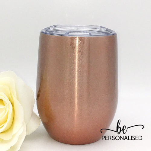 Plain Coffee/Wine Insulated Tumbler - Rose Gold