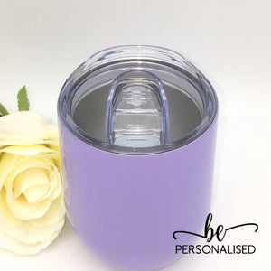 Plain Coffee/Wine Insulated Tumbler - Lilac