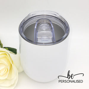 Plain Coffee/Wine Insulated Tumbler - White