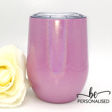 Load image into Gallery viewer, Shimmer Coffee/Wine Insulated Tumbler - Pink