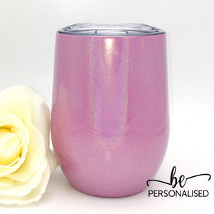 Shimmer Coffee/Wine Insulated Tumbler - Pink