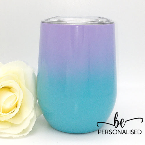 Two Tone Coffee/Wine Insulated Tumbler - Purple and Blue