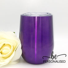Load image into Gallery viewer, Plain Coffee/Wine Insulated Tumbler - Purple