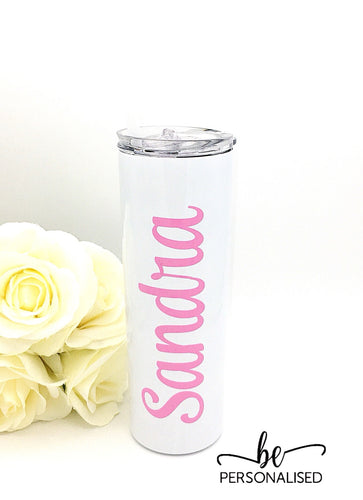 Tall Insulated Tumbler - White