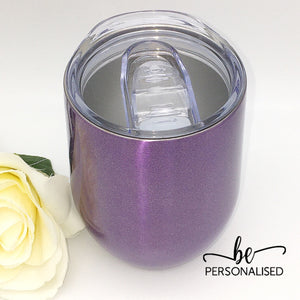 Shimmer Coffee/Wine Insulated Tumbler - Purple