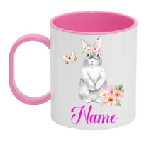 Load image into Gallery viewer, Plastic Easter Mug - Grey Bunny