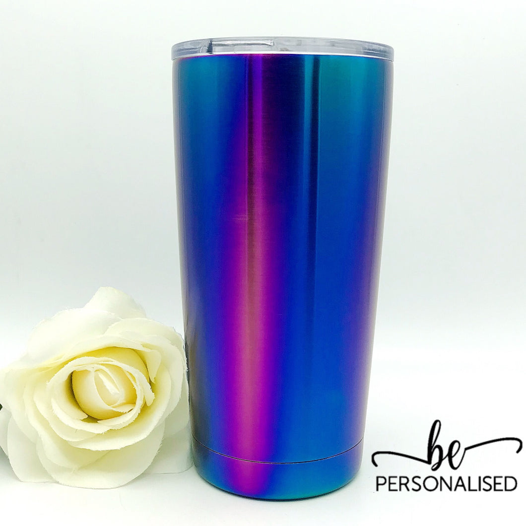 Insulated Coffee Tumbler - Purple Blue Metallic