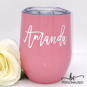 Plain Coffee/Wine Insulated Tumbler - Pink