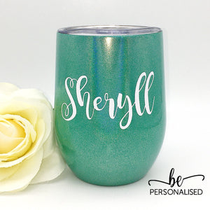 Shimmer Coffee/Wine Insulated Tumbler - Green