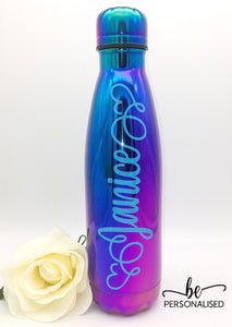 Metallic Insulated 500ml Drink -  Electric Blue