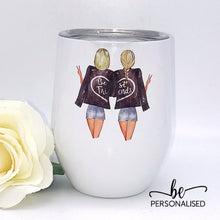 Load image into Gallery viewer, Personalised Best Friends / Sister Tumbler with Quote
