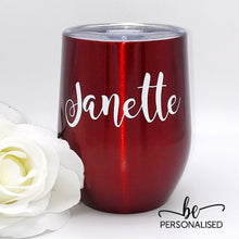 Load image into Gallery viewer, Plain Coffee/Wine Insulated Tumbler - Red