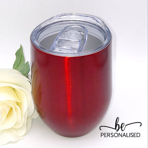 Plain Coffee/Wine Insulated Tumbler - Red