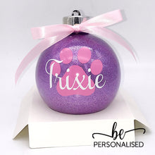 Load image into Gallery viewer, Fur Baby Christmas Glitter Baubles