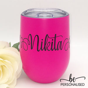 Plain Coffee/Wine Insulated Tumbler - Hot Pink