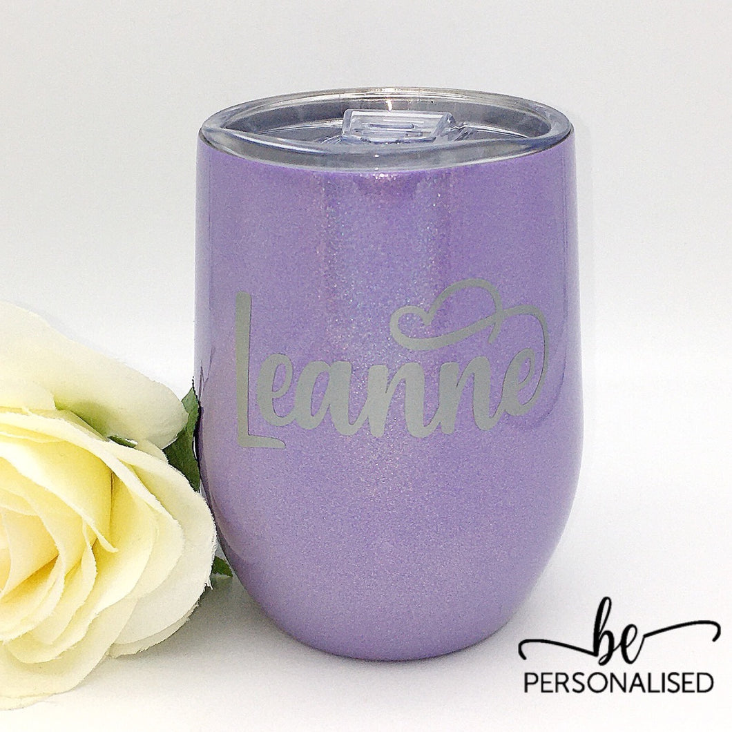 Shimmer Coffee/Wine Insulated Tumbler - Light Purple