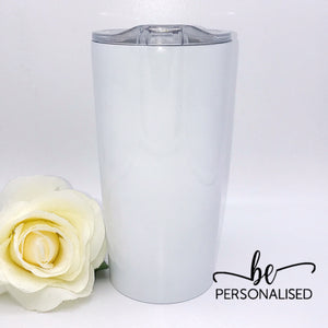 Insulated Coffee Tumbler - White