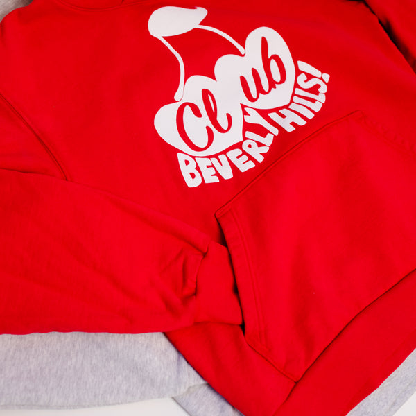 CHERRY IN LOVE HOODIE RED