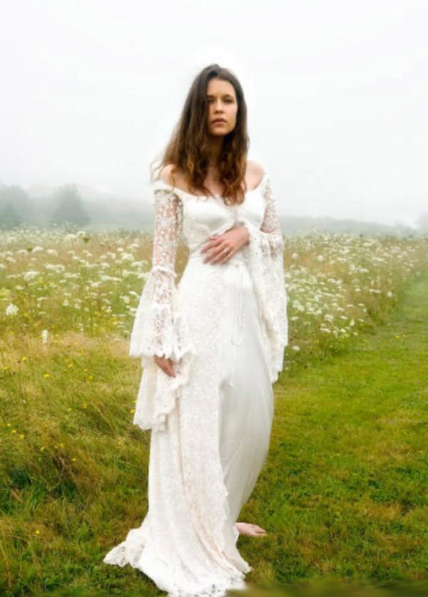 The Serendipity :: All Lace Bell Sleeve Cross String Back Boho ...
