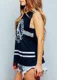 Aztec Black and White Print Singlet