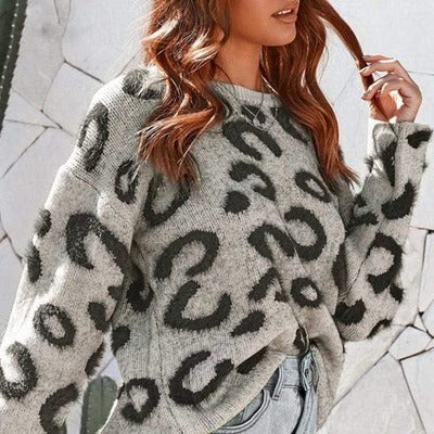 Warm Leopard Sweater