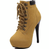 Amazing Platform Stiletto Heels Lace-up Ankle Boots - LeFabStyle™