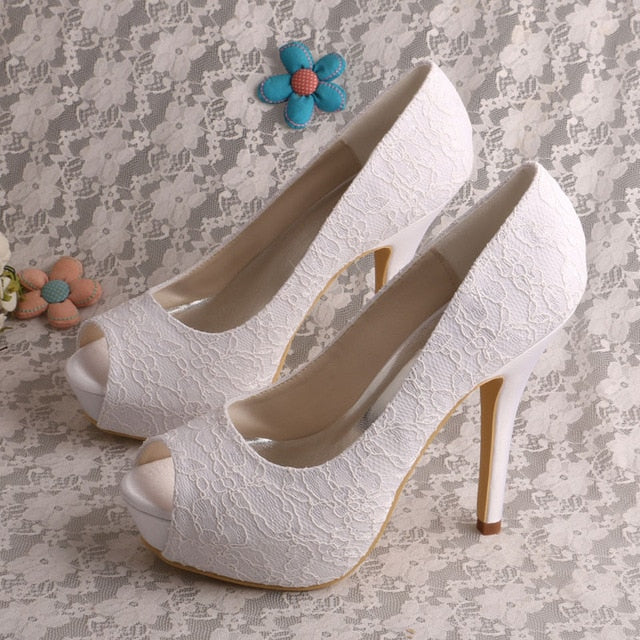 Belle Lace Pumps