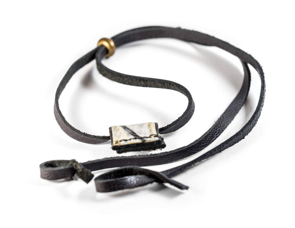 Cape Horn Apparel Leather: Black Semi-gloss / Sail: Kevlar Black Eyewear Strap