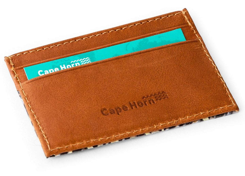 Cape Horn Apparel Leather: Brown Caramel / Sail: Carbono + Kevlar Brown Card Wallet