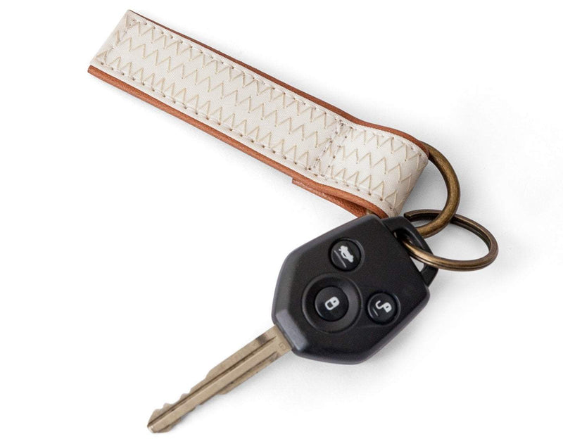 Cape Horn Apparel Leather: Brown Caramel / Sail: Dacron Brown Dacron Keychain