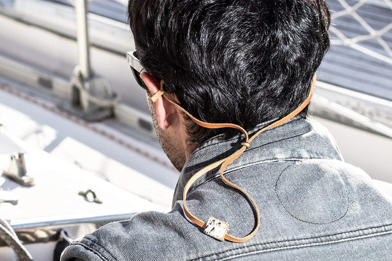 Cape Horn Apparel Leather: Brown Caramel / Sail: Kevlar Brown Eyewear Strap