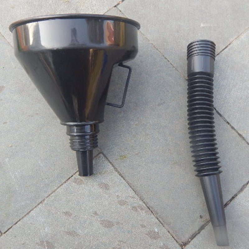 Metal Car Petrol Filter Funnel Flexible Spout for Oil Water