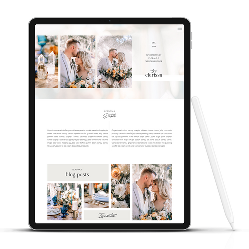 The Clarissa - Showit Template - Showit Theme - Showit Design - Showit Website