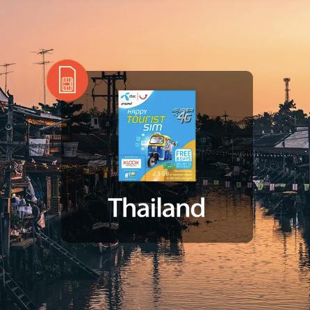 4G SIM Card (Thailand Pick Up) for Thailand